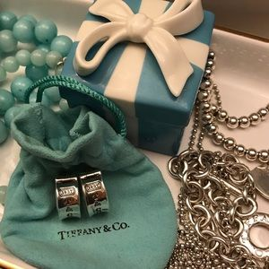 Tiffany & Co 1837 Collection Huggie Earrings